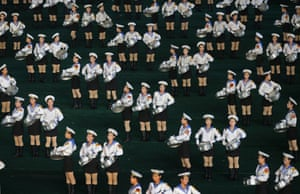 Performers in sailor suits in 2013