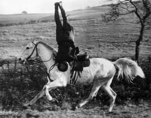 21st December 1939: One of the famous troupe of White Russian Cossack riders keeping his skills in trim at Eynsford in Kent. The troupe had just finished a tour of Britain when war was declared and six of them joined up, offering their services through the Foreign Office.