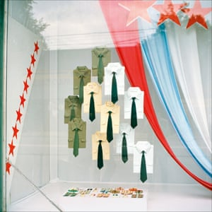 Military shirts on sale in Moscow in 1990