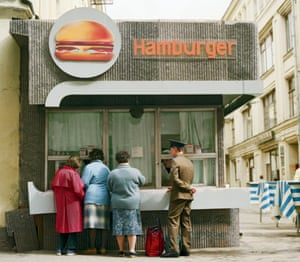 A hamburger stand in Moscow, 1990