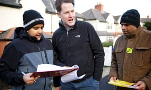 Nick Clegg canvassing his Sheffield Hallam constituency in January