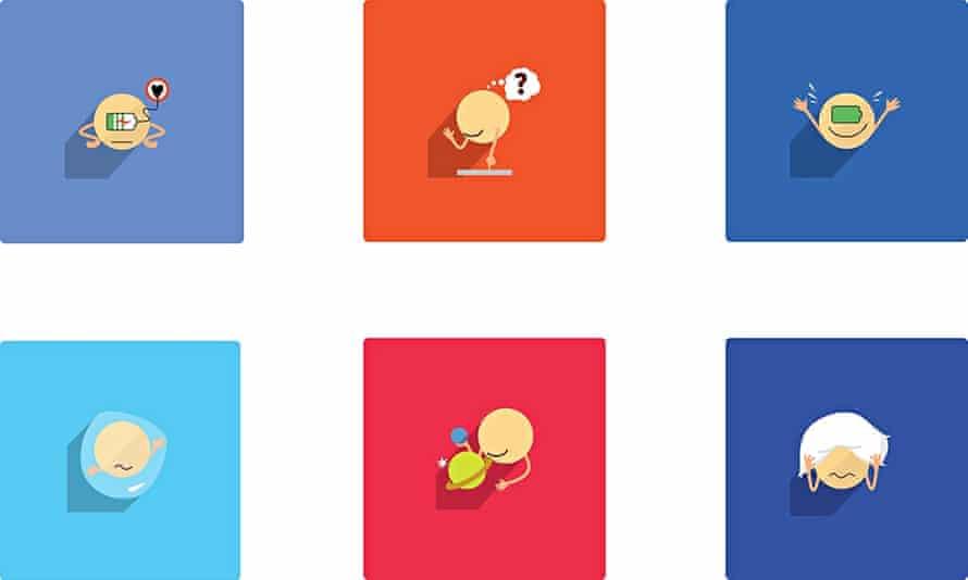 Introverted emojis by Rebecca Lynch.