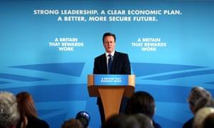 David Cameron delivering speech