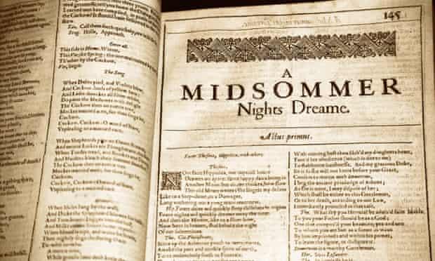 William Shakespeare, A Midsummer Night's Dream.