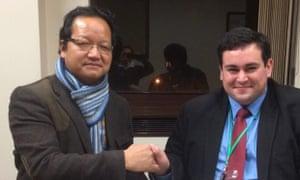 Brendan Chilton (right) with Dhan Limbu, of the Ashford Ghurka society