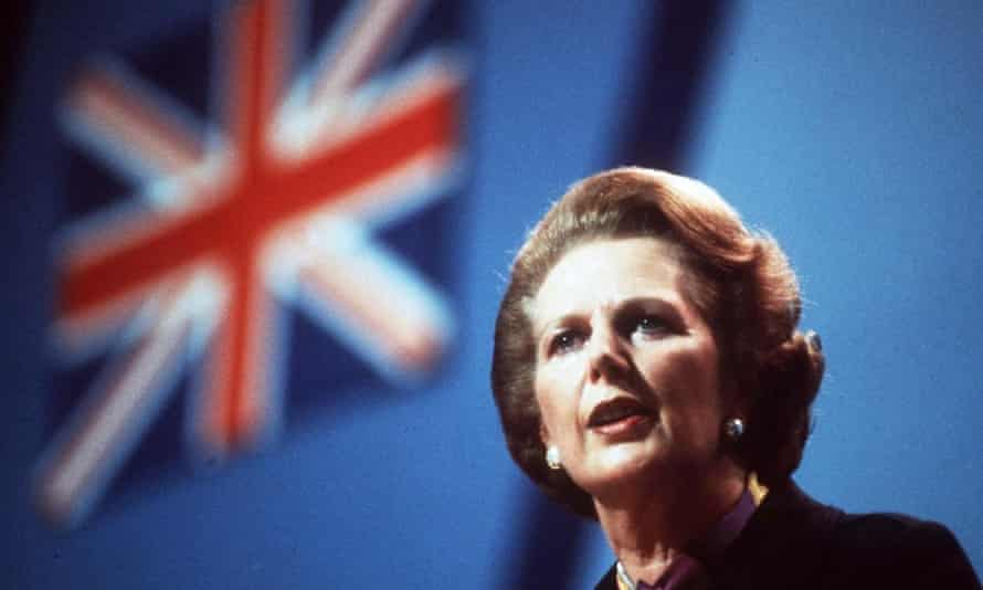 Margaret Thatcher at the Conservative party conference in 1982.