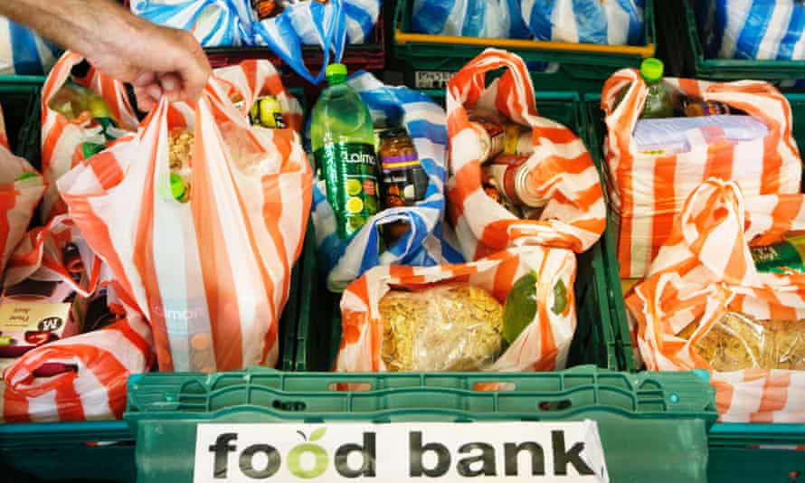 A food bank. The bishops write that 'material inequality has widened' and in practical terms back a living wage.