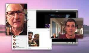Claire Dunphy, Jay Pritchett, and Phil Dunphy in Modern Family's computer and smartphone-shot episode.