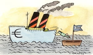 Illustration by Andrzej Krauze on Greece and euro