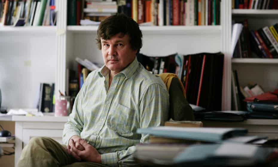 Political journalist Peter Oborne, at home in London