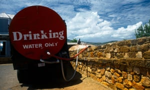Drinking water delivery in Shirley Heights, Antigua. Water-related risks in Caribbean islands such as Antigua and Barbados compare to those in the Western Sahara and parts of the Middle East.