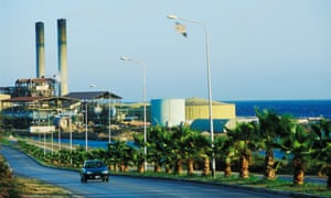 Desalination plant in Willemstad, Curacao