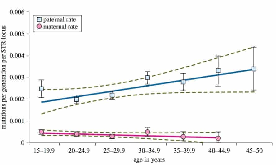 Germline STR mutation rates for fathers and mothers
