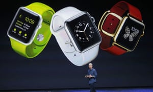 Tim Cook announcing the Apple Watch.
