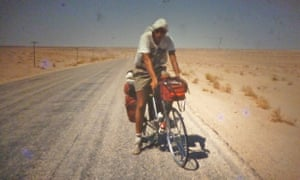Trevor Ward on a cycle tour in the Sahara