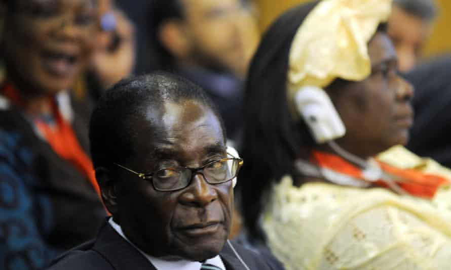 Zimbabwe President Robert Mugabe  attends the June Food Summit at the FAO headquarter, on June 3, 2008, in Rome, Italy.