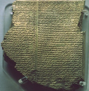 Cuneiform tablet with Gilgamesh Flood Epic. Babylonian, c17th century BC. Southern Iraq. British Museum (Photo by Universal History Archive/Getty Images)