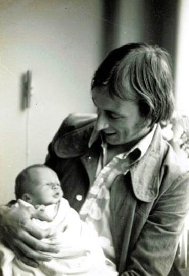Haig as a baby in his dad Richard's arms, 1975.