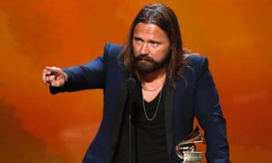 Max Martin accepts the award for Producer of the Year, Non-classical, during the pre-telecast awards at the 57th annual Grammy Awards in Los Angeles,