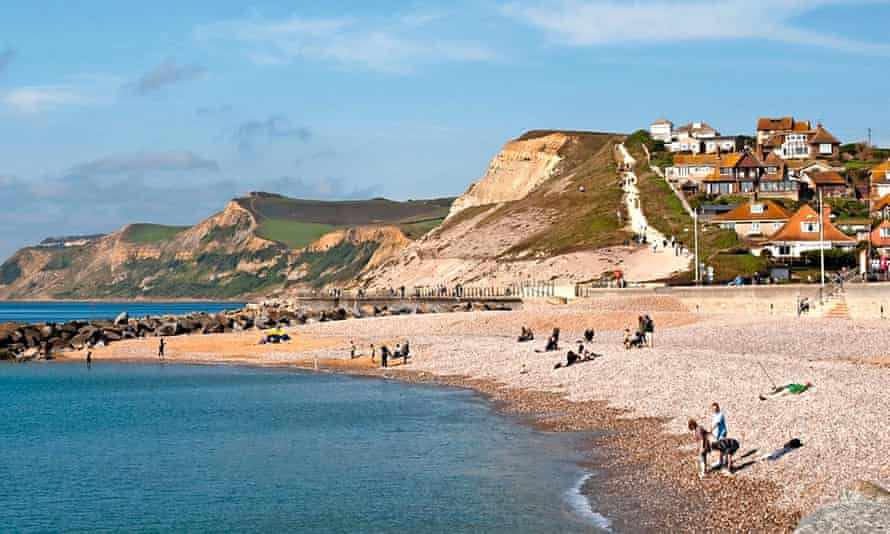 pebble beach seafront at West Bay Dorset