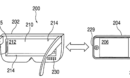 Apple's patent illustration for its virtual reality headset.