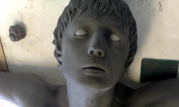 Pete Doherty sculpture's head