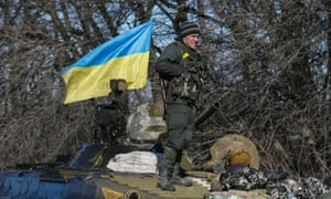 A Ukrainian serviceman near Artemivsk on Wednesday.