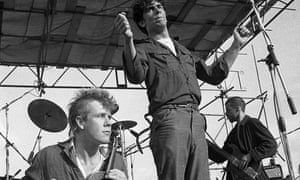 Gareth Sager and Mark Stewart of the Pop Group in 1980