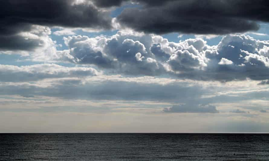 A storm brewing of the English Channel in Hove, East Sussex.