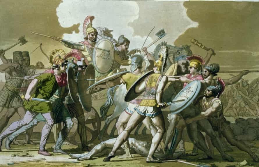 Greeks fighting Trojans