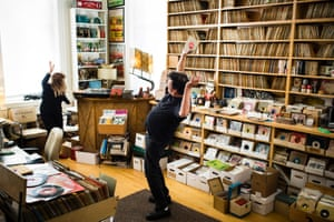 Eilon Paz for Dust & Grooves   Miriam Linna and Billy Miller Norton Records in Brooklyn