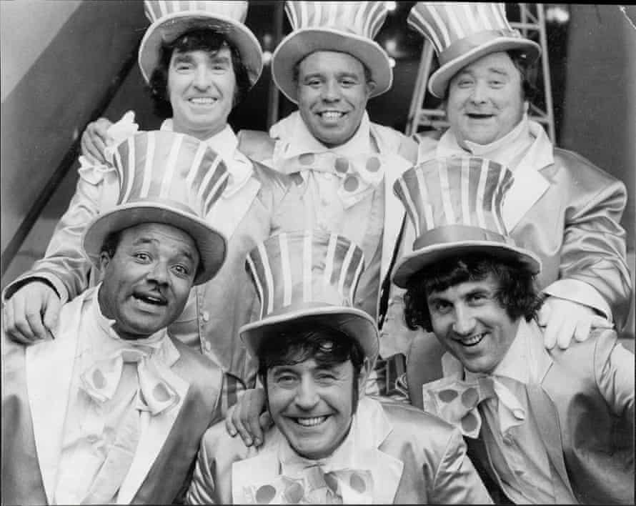 clockwise from top left) Ken Goodwin, Charlie Williams, Bernard Manning, Dave Butler, Mike Reid and Jos White ITV The Comedians