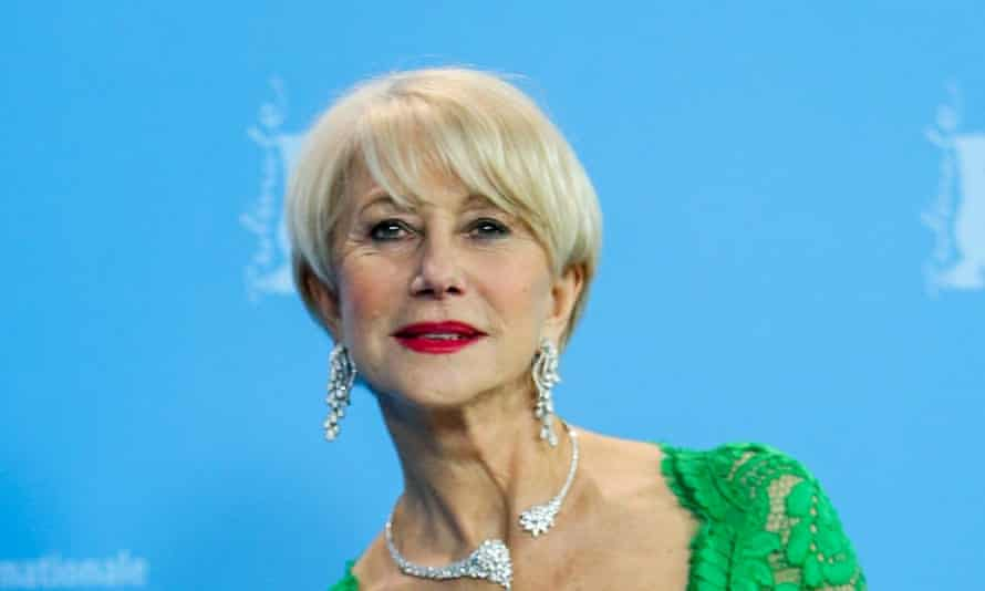 Helen Mirren with her grown out bob
