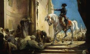 Napoleon Bonaparte at the Great Mosque in Cairo, Egypt.