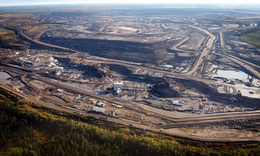 A tar sands mine facility near Fort McMurray, in Alberta, Canada