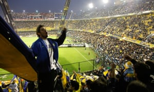 Football match of Boca Juniors at the Bombonera stadium, Buenos Aires.
