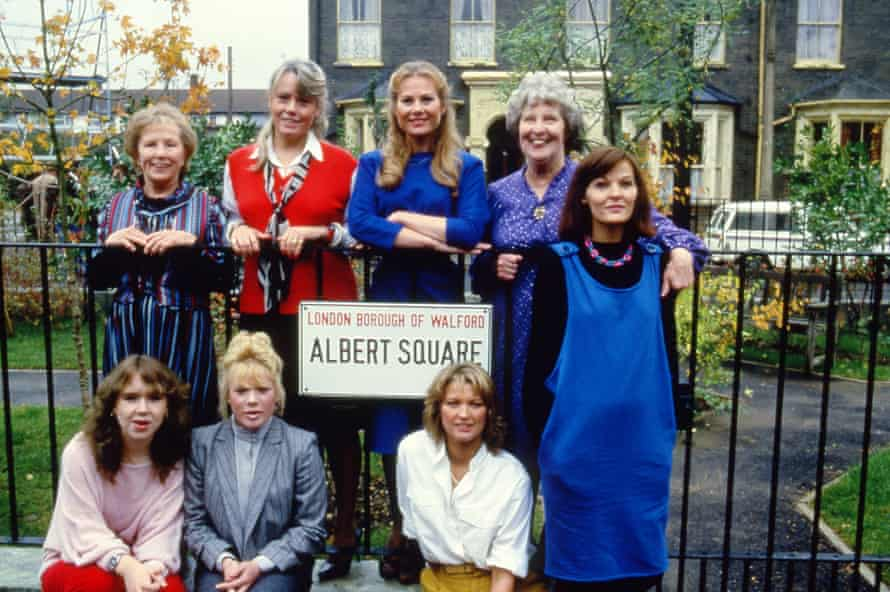 The cast of Eastenders, 1985.