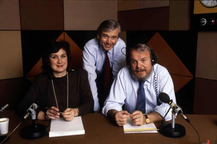 John Humphrys, Brian Redhead and Jenni Murray in the Today studio, 1986.