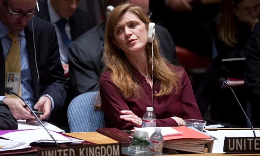 Samantha Power, the US ambassador to the UN