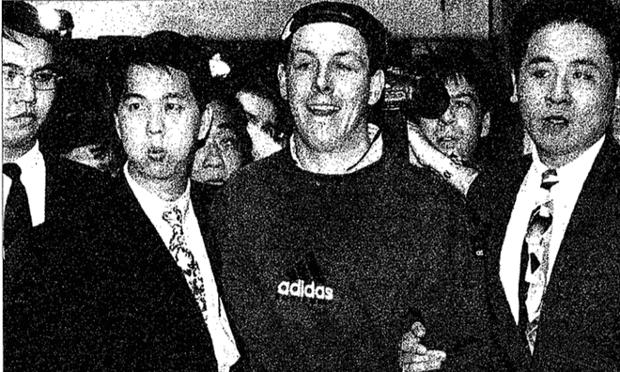 Nick Leeson arrives in Singapore, 23 November 1995.