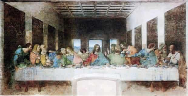 The Ikea monkey in Leonardo da Vinci's Last Supper.
