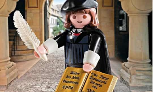 Playmobil's Martin Luther figurine
