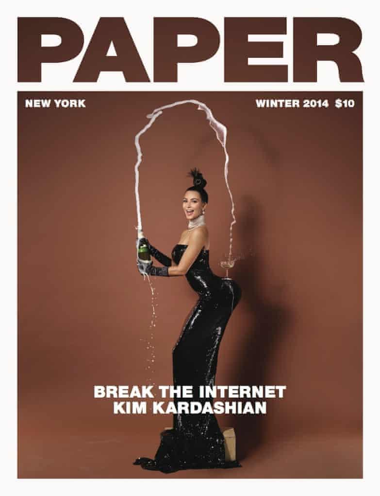 Kim Kardashian on the cover of Paper magazine.