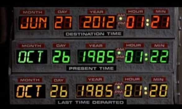 We won't be going back to Back to the Future in the future.