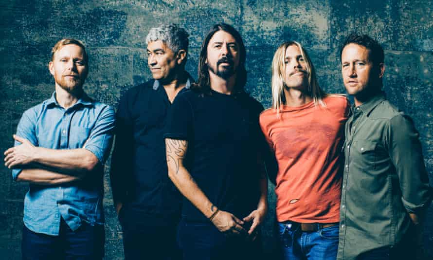 Glastonbury bound: the Foo Fighters are the first major act to be announced for this year's festival.