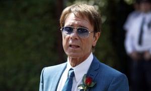Sir Cliff Richard seen arriving at Wimbledon