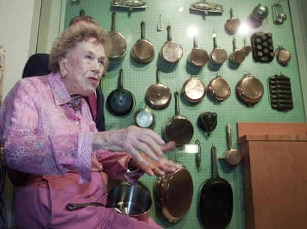 US cooking icon Julia Child donated her peg board wall of cookware to Copia, the museum for food, wine, and art, in Napa, Caliifornia.