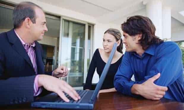 A financial adviser offers a couple advice