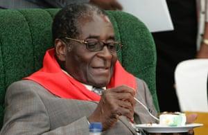 President Robert Mugabe celebrates turning 85 back in 2009.