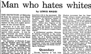 Lewis Nkosi profiles Malcolm X, Observer 15 March 1964